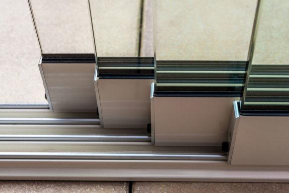 Portes coulissantes en verre - ref. Fiano
