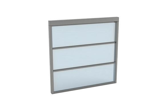 Fenêtre guillotine à ouverture verticale - Ref Triple Motion